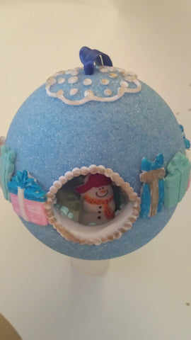 Blue Sugar Ornament