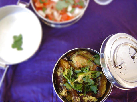 Spicy and Succulent Aubergines with Yoghurt