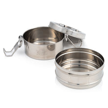 Load image into Gallery viewer, 2 Tier Indian-Tiffin Stainless Steel Medium Tiffin Lunch Box