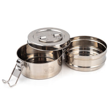 Load image into Gallery viewer, 2 Tier Indian-Tiffin Stainless Steel Large Tiffin Lunch Box
