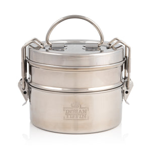 2 Tier Indian-Tiffin Stainless Steel Medium Tiffin Lunch Box
