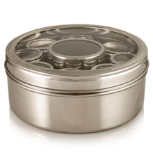 Load image into Gallery viewer, Masala Dabba With Cannisters And Lids With Clear Lids