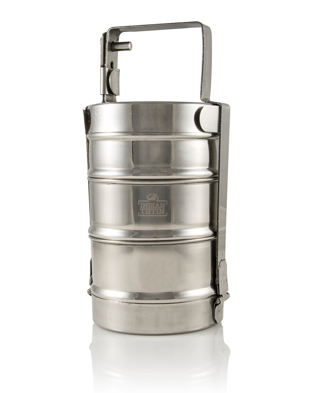 3-tier Long Handle Indian-tiffin