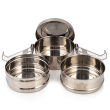 Load image into Gallery viewer, 3 Tier Indian-Tiffin Stainless Steel Medium Tiffin Lunch Box
