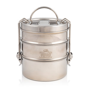 3 Tier Indian-Tiffin Stainless Steel Medium Tiffin Lunch Box