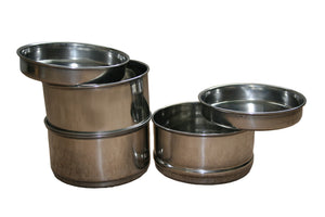 4 Tier Indian Tiffin with Plates (with Long Handle)