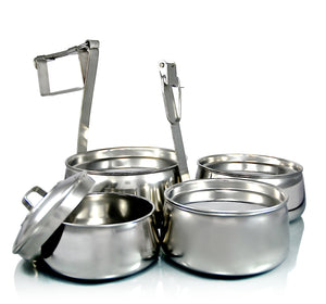 Caja Indian-Tiffin piramidal de 4 niveles