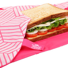 Load image into Gallery viewer, Pink Reusable Sandwich Wrap
