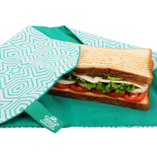 Load image into Gallery viewer, Green Reusable Sandwich Wrap