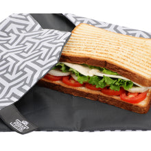 Load image into Gallery viewer, Black Reusable Sandwich Wrap