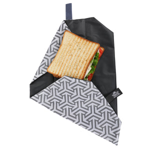 Black Reusable Sandwich Wrap