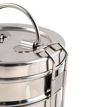 Load image into Gallery viewer, 4 Tier Indian-Tiffin Stainless Steel Large Tiffin Lunch Box