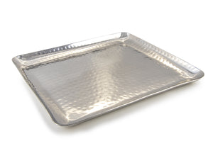 Stainless Steel Square Hammered Plate From Indian-tiffin (Large)