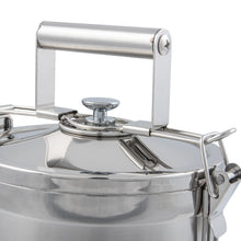 Load image into Gallery viewer, 3 Tier Indian-Tiffin Stainless Steel Eco-Box with 3 Piece Cutlery Set
