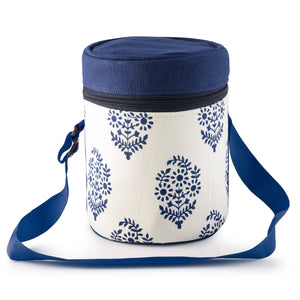 3-laags thermisch geïsoleerde Blue Leaf Tiffin-drager