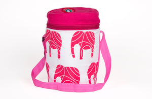 3 Tier Thermally Insulated Pink Elephant Design Tiffin Carrier