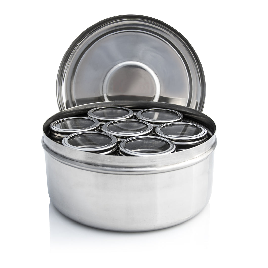 Masala Dabba With Clear Lid Pots