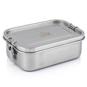 Stainless Steel Indian Tiffin Single Layer Rectangular Lunchbox