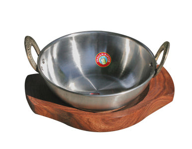 Steel Karahi With Stand