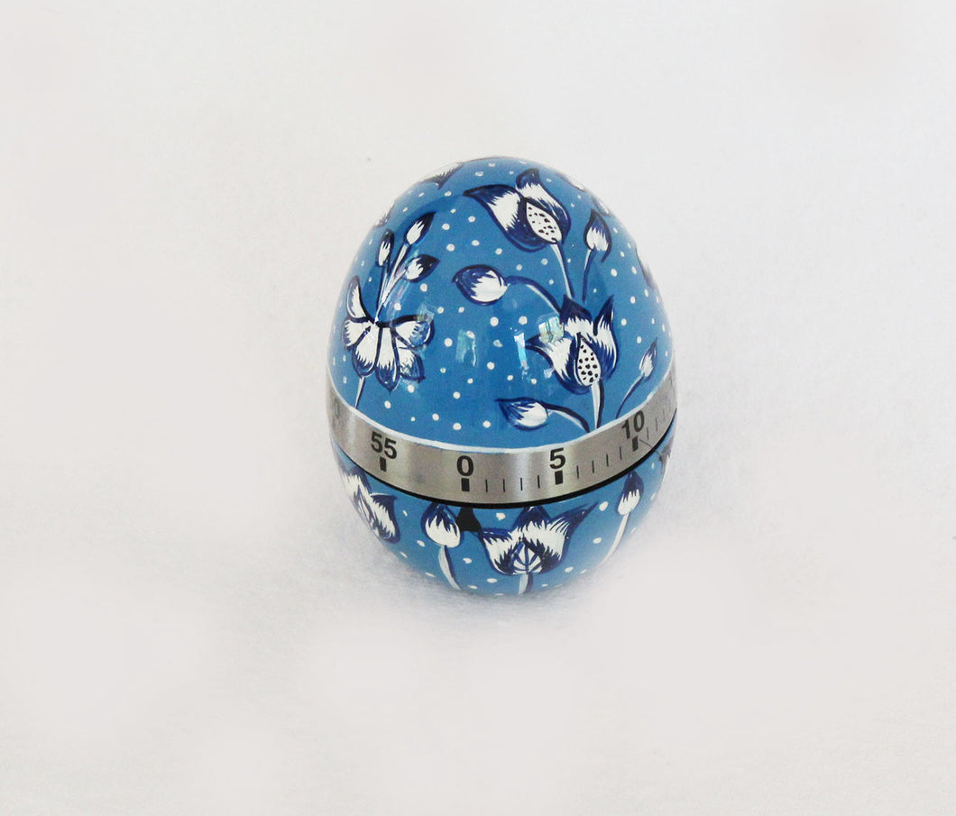 Handpainted Blue & White Egg