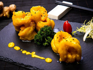 Golden Prawn with Coconut Ginger Sauce