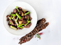Sautéed Kangaroo Meat with Ginger & Spring Onion