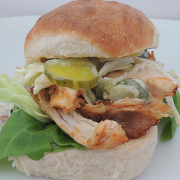Smoked pulled chicken sandwich meal kit