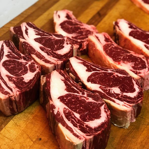 SinT 5yr Speckle Park/Angus Beef Rib Eye Steak