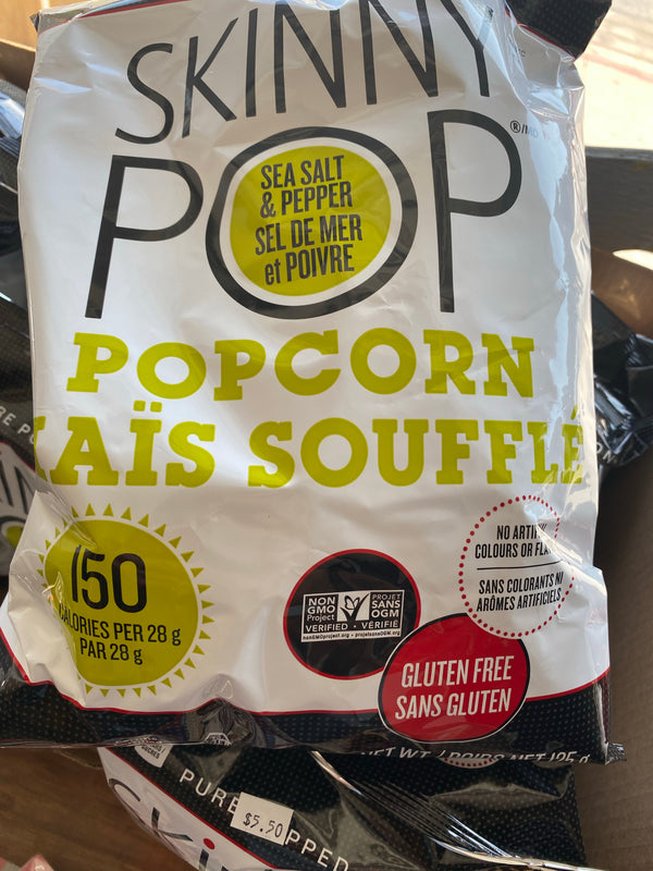 Popcorn Sea Salt & Pepper Flavoured