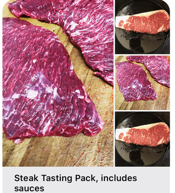 Steak Tasting Pack, includes sauces
