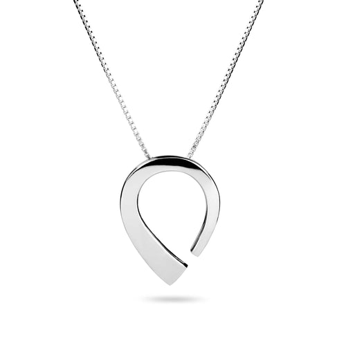 Norwegian made rounded silver necklace - Pulpit Rock collection