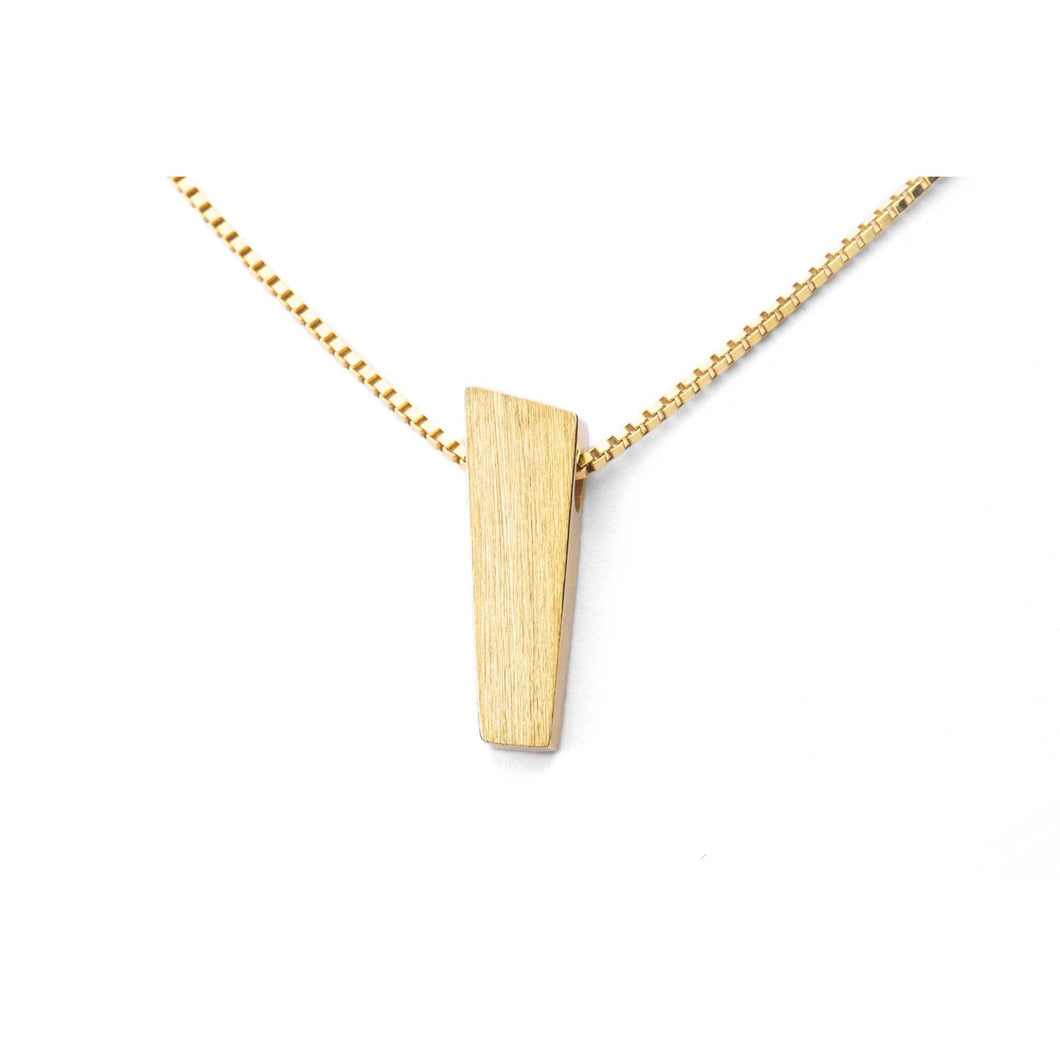 PENDANT 27MM GOLD 18K MATTE - PULPIT ROCK