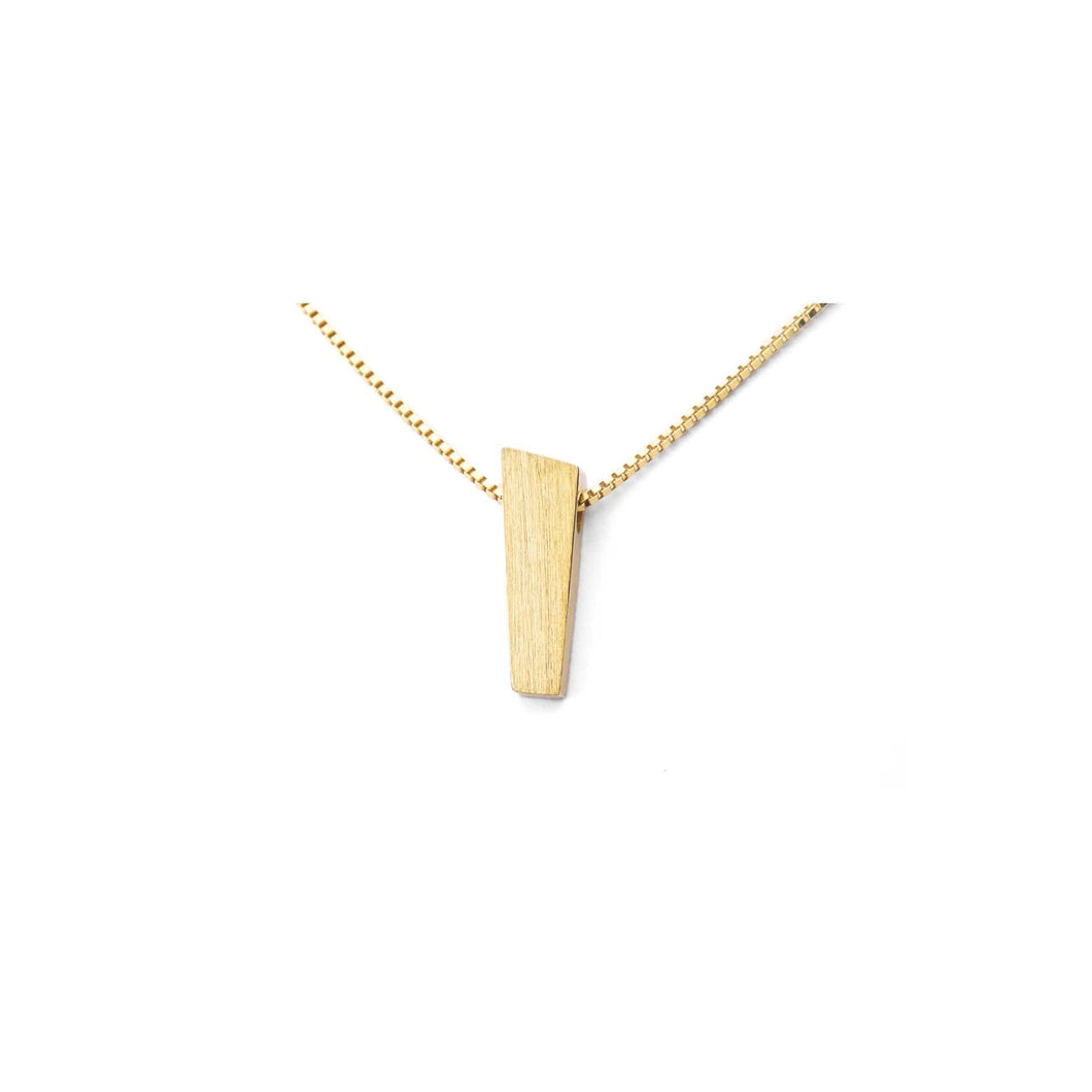 PENDANT 15-18 MM GOLD 18K MATTE - PULPIT ROCK