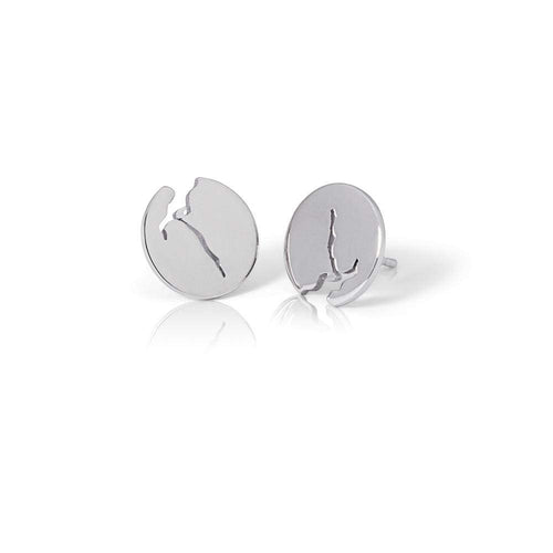 Fjord earrings crafted from silver