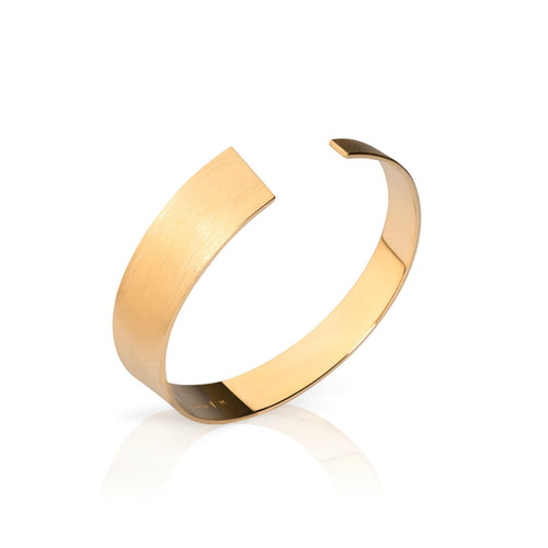 Exclusive gold bangle with a matte surface  by Ekenberg Scandinavia