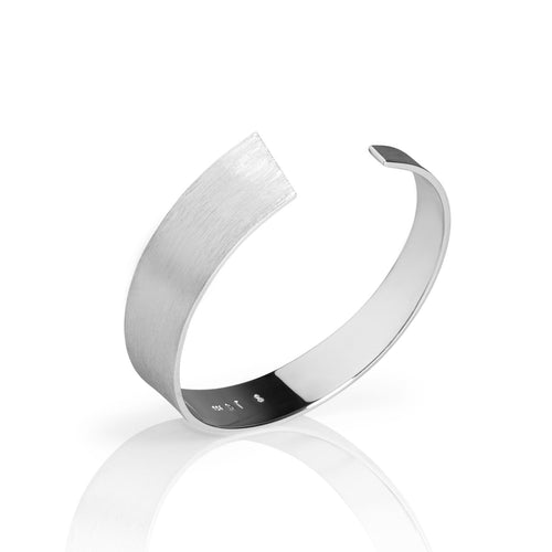 Norwegian made silver bangle with a matte surface