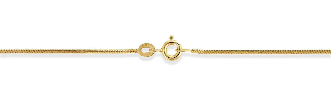 High quality snake chain in 18 k gold