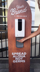 Custom Shape Sanitizer Station & Touchless Dispenser