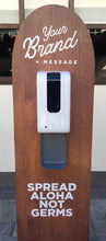 Load image into Gallery viewer, Custom Shape Sanitizer Station & Touchless Dispenser