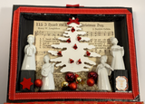 Scatola regalo decorata per Natale - Shadow Box - NONèdabuttare