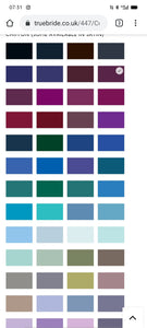 Bridesmaid Colour Chart