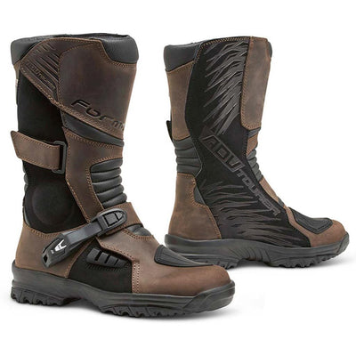 Motorcycle boots, Forma adv tourer brown waterproof footwear home support