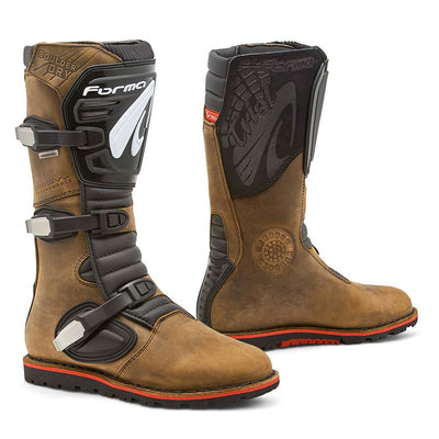 motorcycle boots Forma Boulder Dry brown waterproof