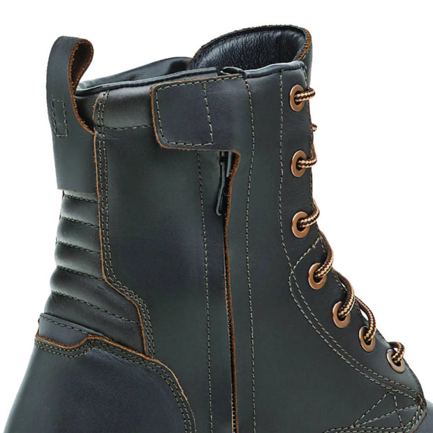 Forma Legacy motorcycle boots, brown urban city zip