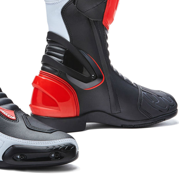 Forma Freccia motorcycle boots, red, toe slider