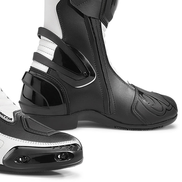 Forma Freccia motorcycle boots, white, toe slider
