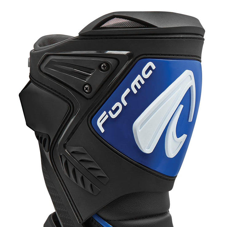 motorcycle boots | Forma Ice Pro racing black blue shin protection