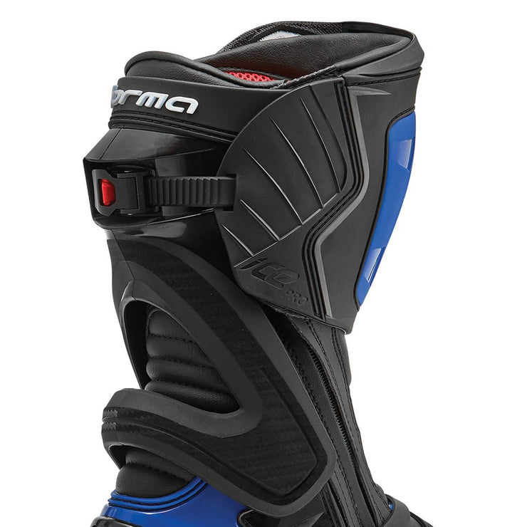 motorcycle boots | Forma Ice Pro racing black blue heat protection