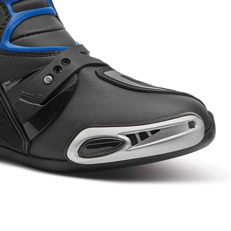 motorcycle boots | Forma Ice Pro racing black blue toe protection