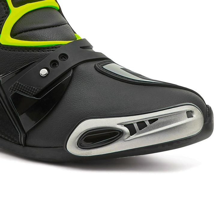 motorcycle boots | Forma Ice Pro black grey neon fluro toe protection